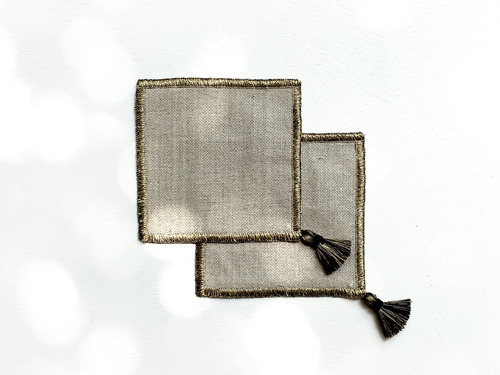 Coaster Seoul Tassel set (BlackGold) Linen Tablecloth