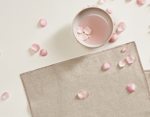 Rose Gold Placemat set of 2 Linen Tablecloth